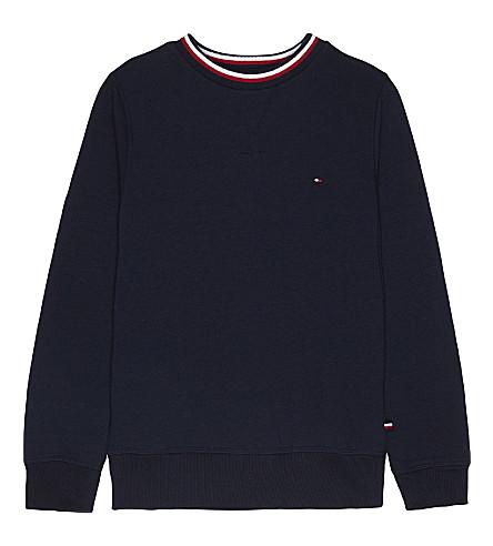 TOMMY HILFIGER Stripe collar cotton sweatshirt 4-16 years (Navy