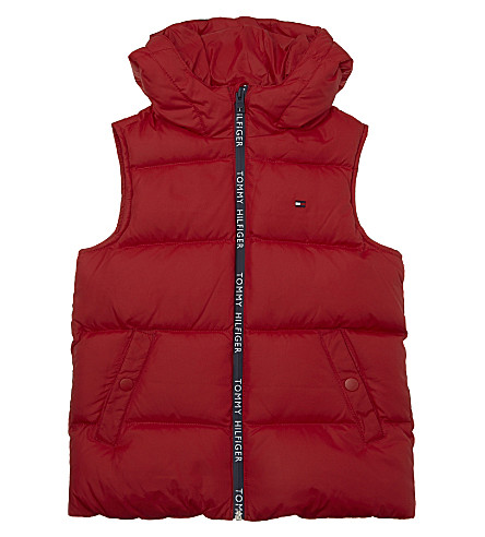 TOMMY HILFIGER Hooded gilet 4-16 years (Red