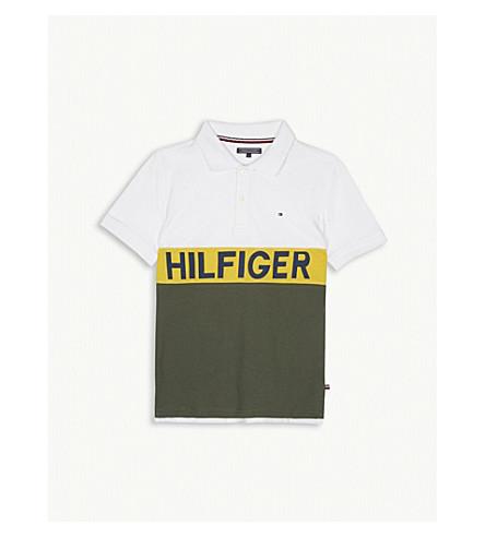TOMMY HILFIGER Brand logo print polo shirt 4-16 years (Khaki