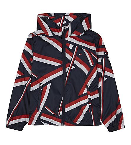 TOMMY HILFIGER Geometric raincoat 6-16 years (Midnight