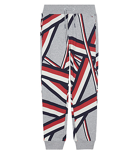 TOMMY HILFIGER Geometric cotton-blend jogging bottoms 6-16 years (Sports+grey