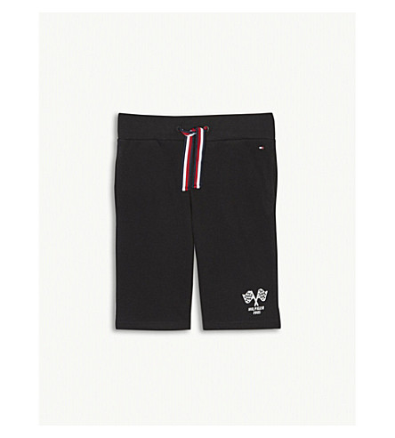 TOMMY HILFIGER Racing pique cotton shorts 4-16 years (Black