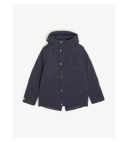 TOMMY HILFIGER Logo hooded parka 4-16 years (Navy