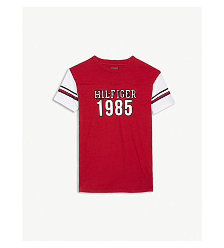 TOMMY HILFIGER 1985 short-sleeved cotton T-shirt 4-16 years (Red