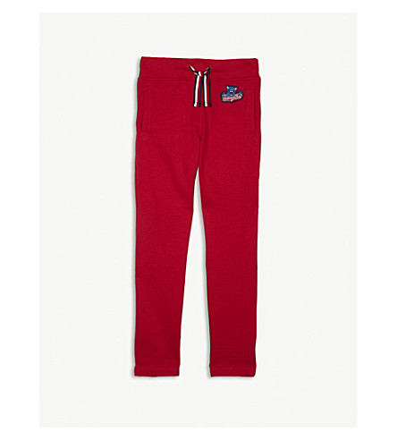 TOMMY HILFIGER Badge cotton jogging bottoms 4-16 years (Red