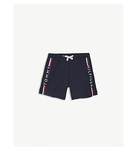 TOMMY HILFIGER Tape logo swim shorts 4-16 years (Navy