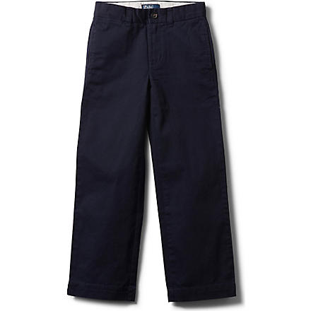 RALPH LAUREN Chino trousers 3-7 years (Aviator+navy