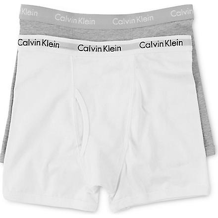 CALVIN KLEIN Pro-stretch boxer briefs (2 pack) (White/grey