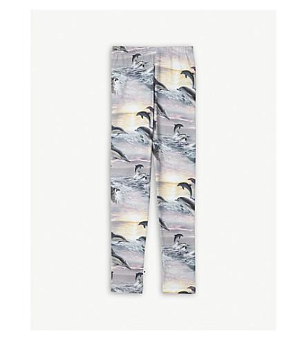 MOLO Niki dolphin-printed stretch-cotton leggings 4-14 years (Blue