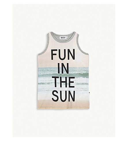 MOLO Roxanne Fun in the Sun cotton vest top 4-14 years (Grey+multi
