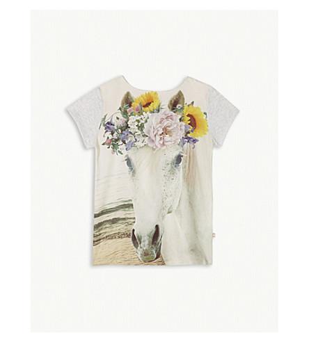 MOLO Rubertha horse print T-shirt 4-14 years (Grey