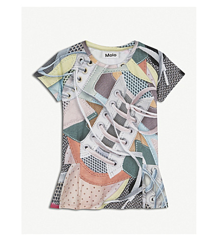 MOLO Robbin sneaker-print stretch-cotton dress 4-14 years (Multi