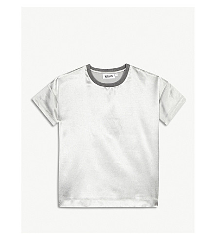 MOLO Rheta metallic finish T-shirt 3-14 years (Silver