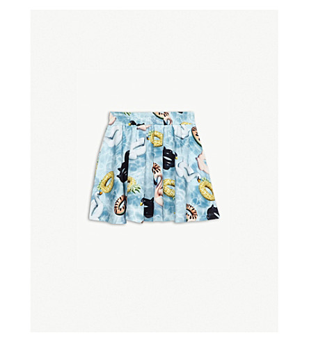 MOLO Barbera pool-print cotton skirt 3-14 years (Blue