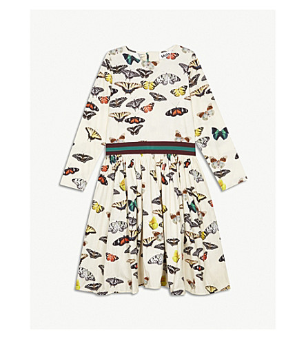 MOLO Christin butterfly print cotton dress (Multi