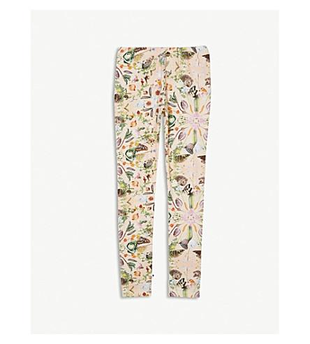 MOLO Garden print cotton-blend leggings 4-14 years (Pink