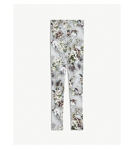 MOLO Niki floral print leggings 4-14 years (Grey