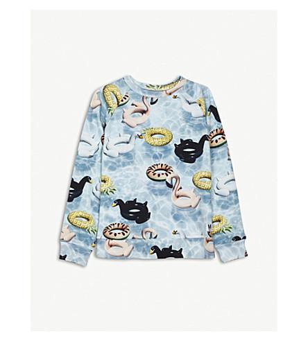 MOLO Marina printed cotton sweatshirt 4-14 years (Blue