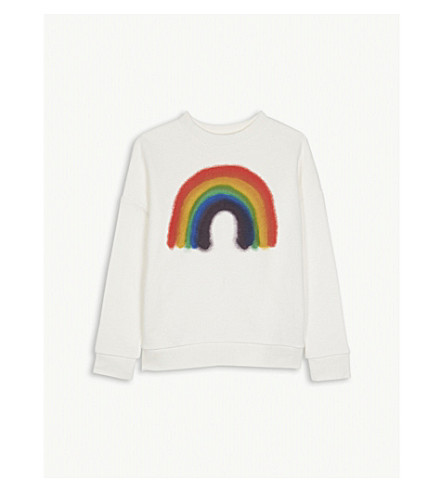 MOLO Maxi rainbow cotton sweatshirt 4-14 years (Off+white