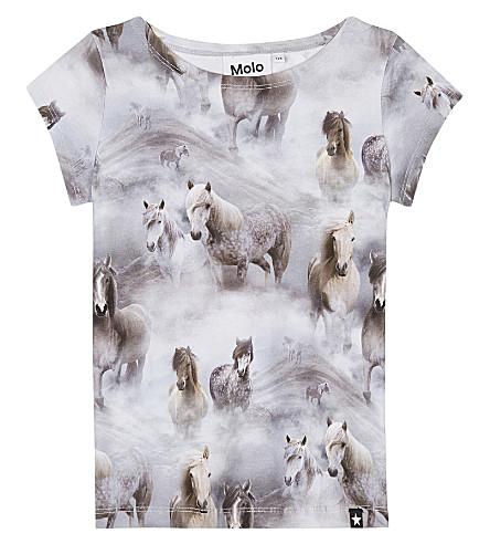 MOLO Robinette horse print cotton top 4-14 years (4638
