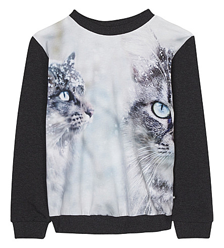 MOLO Ragine 2 cat cotton long-sleeve top 4-14 years (93