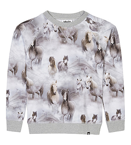 MOLO Raewyn horse-print cotton jumper 4-14 years (4638