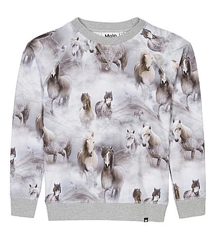 MOLO Raewyn horse-print cotton sweater 4-14 years (4638