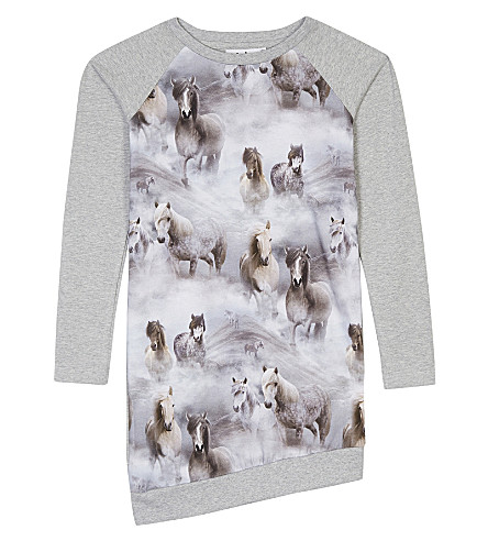MOLO Cindalle horse print cotton dress 3-14 years (4638