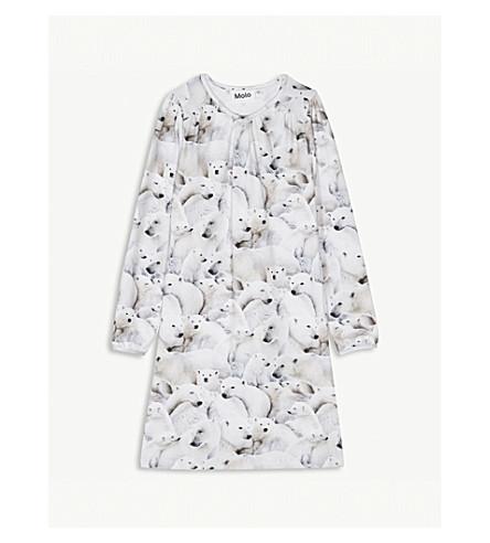MOLO Ceria polar bear print cotton-blend dress 3-12 years (Polar+bear