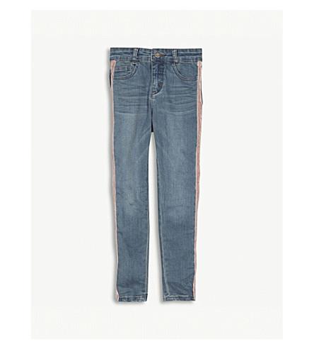 MOLO 牛仔裤条纹 4-14 岁 (光 + 洗