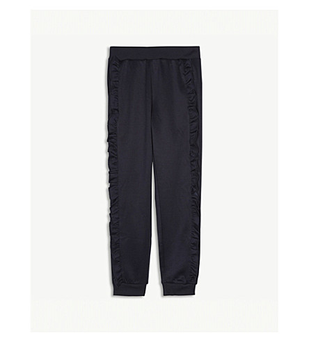 MOLO Aline frilled cotton-blend jogging bottoms 4-14 years (Navy
