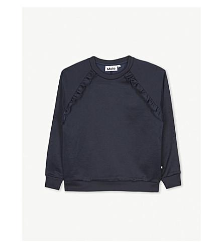 MOLO Michaela frilled sweatshirt 4-14 years (Navy