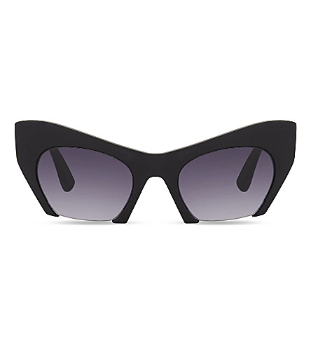 MOLO 7S17T509 See polycarbonate cat eye-frame sunglasses (Black