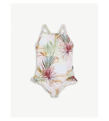 MOLO Noona safari-print swimming costume 4-12 years (Peach
