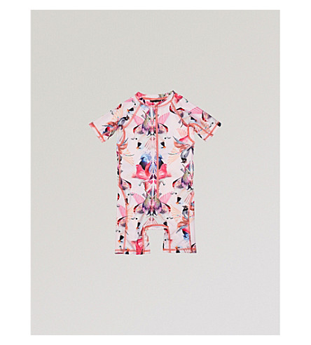 MOLO Neka bird-print swimming costume 3-8 years (Pink