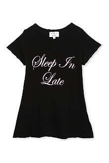 WILDFOX Sleep in late slogan t-shirt 7-14 years