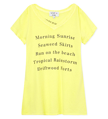 WILDFOX Island fun t-shirt 7-14 years (Sunlight