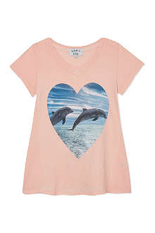 WILDFOX Save A Dolphin t-shirt 7-14 years
