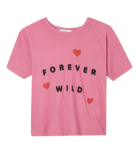 WILDFOX Forever Wild t-shirt 8-16 years (Bougainvillea