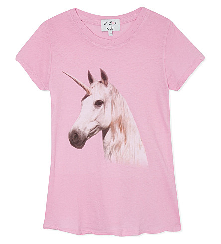 WILDFOX Unicorn dream t-shirt 7-14 years (Pink