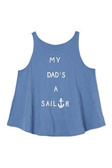 WILDFOX Dad's a sailor t-shirt 7-14 years