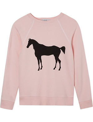 WILDFOX Horse silhouette sweater 7-14 years