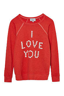 WILDFOX 'I love you' sweater 7-14 years