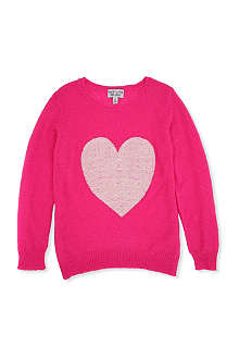 WILDFOX Sequin heart jumper 7-14 years