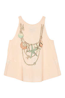 WILDFOX Shell necklace t-shirt 7-14 years