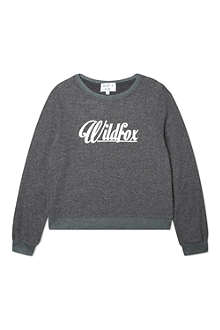 WILDFOX 60's logo sweatshirt 7-14 years