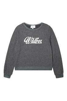 WILDFOX 60's logo sweatshirt 7-14 years
