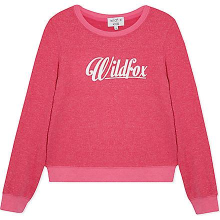 WILDFOX Logo sweatshirt 7-14 years (Pink