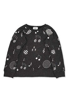 WILDFOX Music note sweatshirt 7-14 years