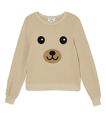 WILDFOX Teddy Face jumper 4-6 years (Brown egg